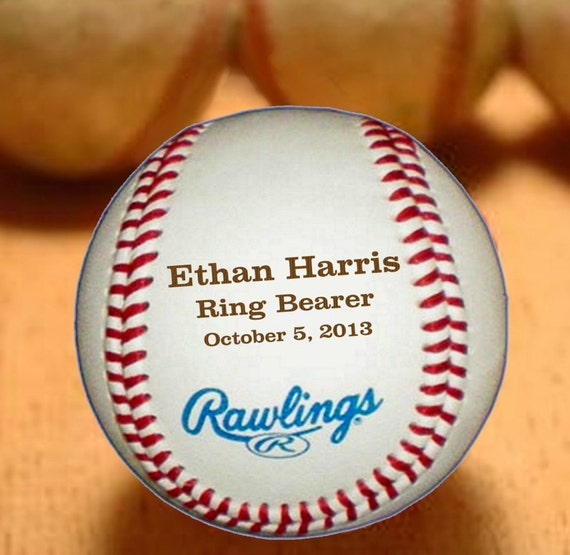 Baseball Wedding Gifts: Ring Bearer Gift Personalized Baseball By UrbanFarmhouseTampa