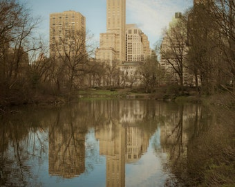 New York Photograph Central Park Photo nyc Photography Lake Beige Brown Manhattan Neutral Colors nyc61