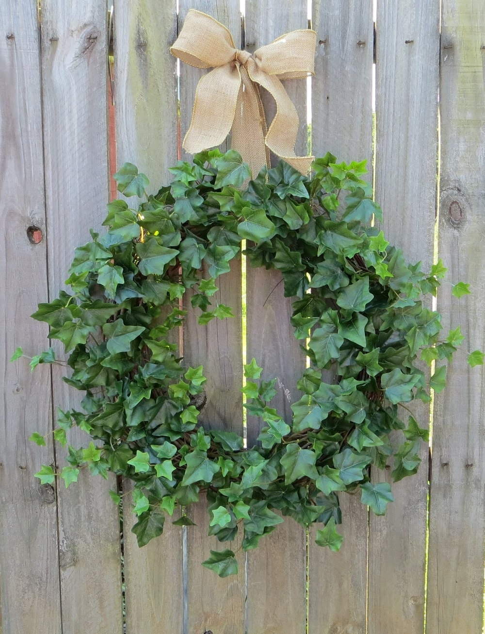 Spring Wreaths Summer Wreaths Ivy And Burlap Bow For Year