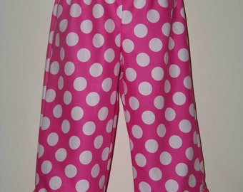 Boutique Ruffle Pants or Shorts / Pink Polka Dots / Minnie Mouse / Disney / Birthday / Infant / Baby/ Girl/ Toddler / Boutique Clothing
