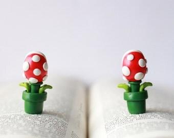 Piranha Plant Earrings Super Mario Nintendo