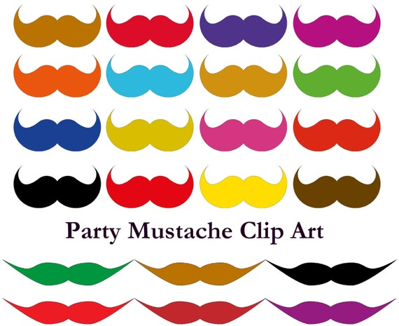 Mustache party printable paper Mustache birthday outfit party favors Mustache clip art Perfect mustache on a stick. Mustache download print