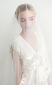 Lace veil, cathedral veil, wedding veil, bridal veil, face veil - style 317