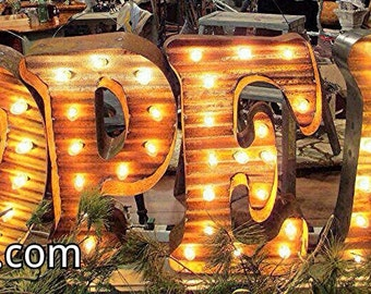 Marquee Lighted Letter Vintage Style. You Choose Letter.