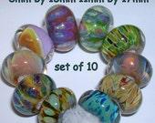 Beau Hawn GLASSADDICT Handmade Lampwork Boro Glass Artisan Beads borosilicate bead ORPHANS