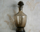 French Smoked Glass Decanter