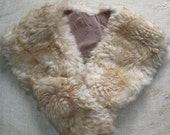 Reserved for Julie - Fabulous French Fur Stole Collar from 1950s