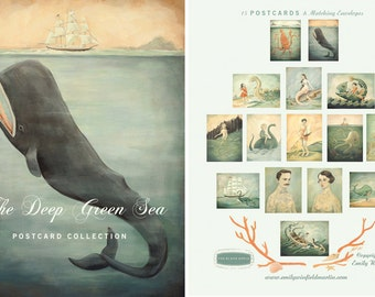 The Deep Green Sea Postcard Collection by Emily Winfield Martin