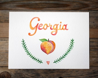 Custom Made-To-Order Personalized Name Illustration in Watercolor