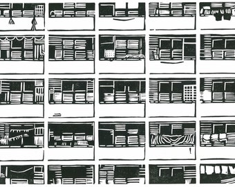 SINGAPORE PRINT - Block 45 Stirling Road - Relief Print - Architectural Art