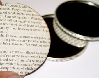 3 Pride and Prejudice Pocket Mirrors - Stocking Stuffer, Book Club, Literary Gift
