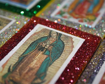 Mexican Wedding Favors Matchbox Candy Boxes Virgen de Guadalupe Catholic Virgin Mary Favors