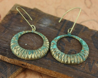 Fluted Hoops Earrings