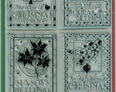 Inkadinkado Acrylic Christmas Holiday  Stamp Set of 6
