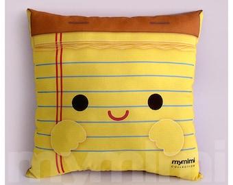 "12 x 12"" Office Decor Pillow, Desk Decor, Office Accessories, Note Pad, Decorative Pillow, Back To School, College, Dorm Decor"