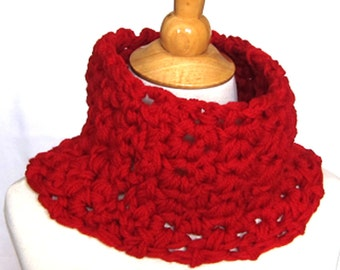 Crochet Cowl Scarf Pattern  30 Minutes  1 Skein  Unisex Men Women  Mother's Day Easy Crochet Gift Ideas For Men