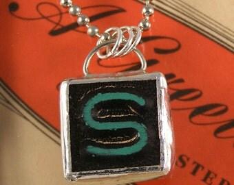 Letter S Initial Pendant Necklace