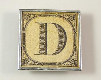 Letter D Initial Magnet