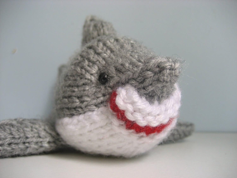 Amigurumi Knit Shark Pattern Digital Download