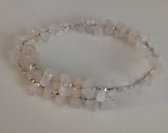 Beaded Bracelet: Clear Glass