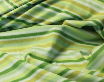 """Micro Fleece from Patagonia - Green Stripes - 60"""" wide"""