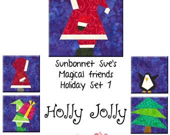 Holly Jolly - 5 patterns to Paper Piece