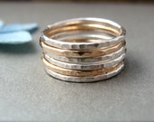 six … mixed metal stacking rings