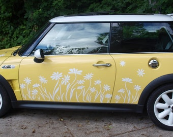 Daisy Vinyl Silhouette Decal Stickers for a MIni Cooper by Tonyabug Sticker Momma