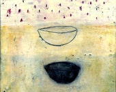 Needs and Wants: Original encaustic painting