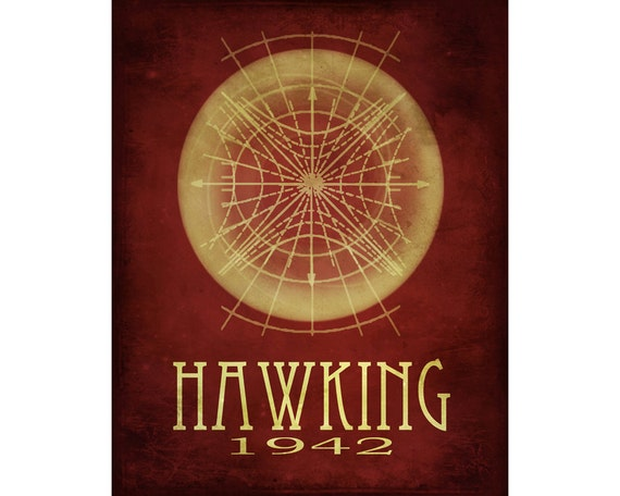 Astronomy Art Print 16x20 - Stephen Hawking, Cosmic Pioneer, Astronomer Poster, Geek Art, Black Hole Radiation, Outer Space Art Astrophysic