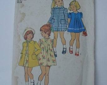 vintage Simplicity 6182 Size 2 child Dress and Coat PATTERN