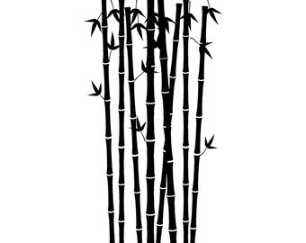 "12"" x 36"" - Bamboo Forest Vinyl Wall Decals"