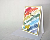 Sympathy/condolence card dog cat pet stamped handmade blank Rainbow Bridge stationery greeting card home