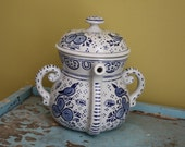 Unusual Blue AVON Teapot.