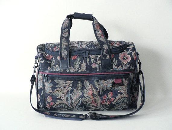 Vintage Floral Tapestry Shoulder Duffel Bag Travel By Etsplace