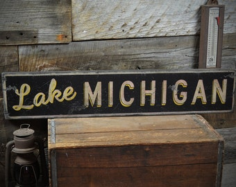 Personalized Cabin & Lake House Sign - Rustic Hand Made Vintage Wooden Sign ENS1000153