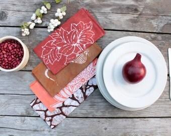 eclectic earthy napkin set