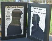 Sherlock Holmes and John Watson Framed Silhouettes