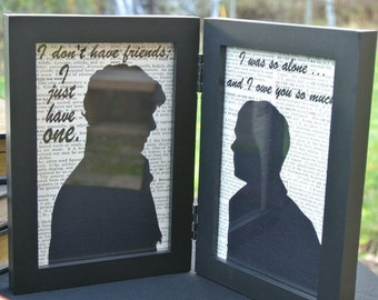 Sherlock Holmes and John Watson Framed Silhouettes