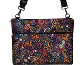 13 inch Laptop Bag with Strap, 13 inch MacBook Pro Case, Macbook Air 13 Sleeve colorful circles bubbles dots MTO