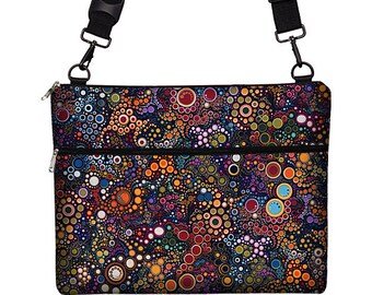 13 inch Laptop Bag with Strap, 13 inch MacBook Pro Case, Macbook Air 13 Sleeve colorful circles bubbles dots RTS