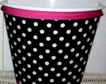 On Sale Black And White Polka Dot Hot Pink Girls