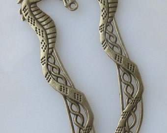 Bronze Dragon Bookmark Charms For DIY 115cm Long 2 pcs