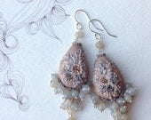 reserved for t - milkstone - dreamy evening song earrings