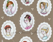 "SALE Victorian girls art print, ""Septet"" SALE"
