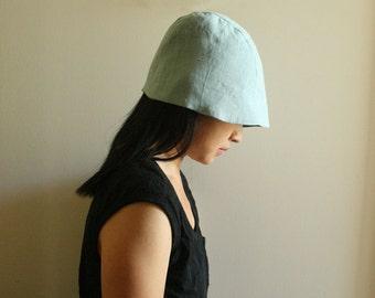 LINEN HAT - WOMENS / duck egg blue / beanie / cloche / reversible / summer hats / organic / vegan / eco / made in australia / pamelatang