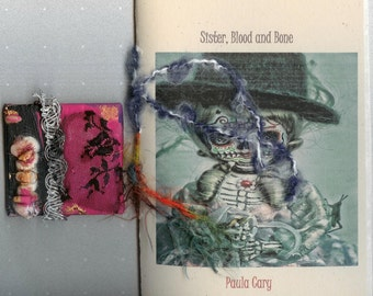 Art AND Poetry Combo Pack - One of a Kind Mini Canvas Painting combined with Sister, Blood and Bone