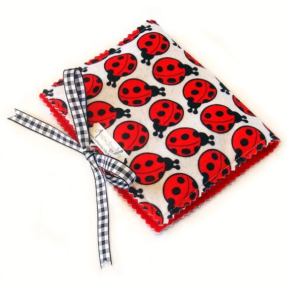 Crayon Wallet & Chalk Mat Art Folio: Lovely Ladybugs - arts and crafts coloring travel toy / travel game - Sale take 20% off