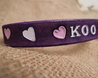 Cute Cat Collar - Purple - Cat Collar - Hearts