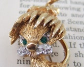VINTAGE costume jewelry LION brooch